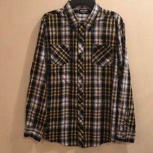 Zoo York men's plaid long sleeve button down shirt